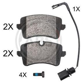 Kit de plaquettes de frein, frein à disque Largeur 2: 116,5mm, Hauteur 1: 58,6mm, Hauteur 2: 60mm, Epaisseur 2: 17,4mm avec OEM numéro 4G0 698 451 H