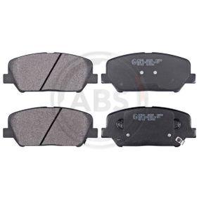 Bremsbelagsatz, Scheibenbremse Breite 1: 140,8mm, Höhe 1: 60mm, Dicke/Stärke 1: 17,6mm mit OEM-Nummer 58101 A7A20