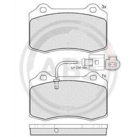 Bremsbelagsatz, Scheibenbremse Breite 1: 110mm, Höhe 1: 69mm, Dicke/Stärke 1: 14,8mm mit OEM-Nummer 1ML698 151