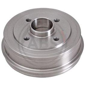 Bremstrommel Br.Tr.Durchmesser außen: 208mm, Felge: 4-loch mit OEM-Nummer 7700783030