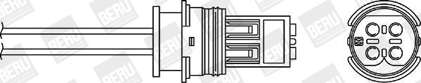 BERU  OPH034 Lambdasonde Kabellänge: 220mm