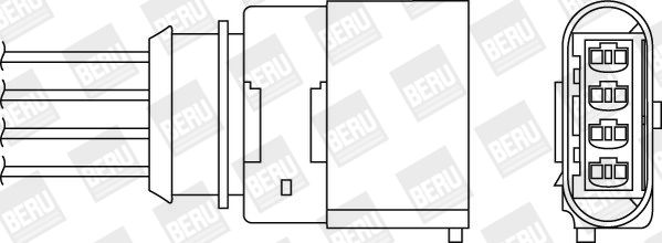 BERU  OPH059 Lambdasonde Kabellänge: 1,380mm