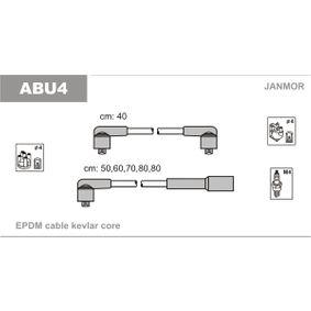JANMOR Zündleitungssatz ABU4 für AUDI 90 (89, 89Q, 8A, B3) 2.2 E quattro ab Baujahr 04.1987, 136 PS
