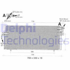 Kondensator, Klimaanlage Netzmaße: 19mm mit OEM-Nummer 92110-2F005