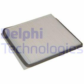Filter, Innenraumluft Länge: 208mm, Breite: 198mm, Höhe: 18mm mit OEM-Nummer 6441H7
