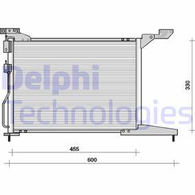 Кондензатор, климатизация TSP0225093 800 (XS) 2.0 I/SI Г.П. 1993