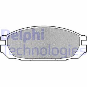 Composants Boite De Vitesse NISSAN PATROL GR I (Y60, GR) 4.2 CAT de Année 11.1988 165 CH: Jeu de plaquettes de frein, frein à disque (LP983) pour des DELPHI