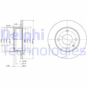 Bremsscheibe Bremsscheibendicke: 12,9mm, Lochanzahl: 4, Ø: 239,5mm mit OEM-Nummer 6100043