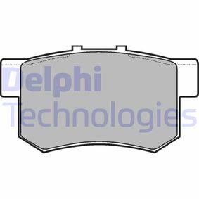 Brake Pad Set, disc brake LP948 CIVIC 7 Hatchback (EU, EP, EV) 2.0 Type-R MY 2001