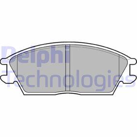 Bremsbelagsatz, Scheibenbremse Höhe 2: 49mm, Höhe: 49mm, Dicke/Stärke 1: 14mm, Dicke/Stärke 2: 14mm mit OEM-Nummer 581011CA00