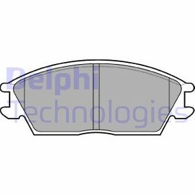 Bremsbelagsatz, Scheibenbremse Höhe 2: 49mm, Höhe: 49mm, Dicke/Stärke 1: 14mm, Dicke/Stärke 2: 14mm mit OEM-Nummer 58101-24A00