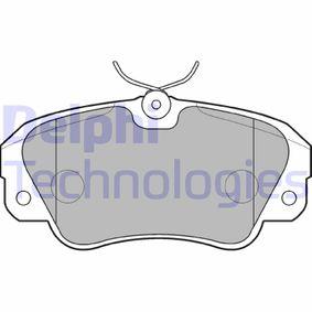 Bremsbelagsatz, Scheibenbremse Höhe: 64mm, Dicke/Stärke 2: 18mm mit OEM-Nummer 1605 004