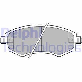 Bremsbelagsatz, Scheibenbremse Breite 1: 137mm, Breite 2: 137mm, Höhe 1: 54mm, Höhe 2: 54mm, Dicke/Stärke 1: 16mm, Dicke/Stärke 2: 16mm mit OEM-Nummer 58101-3C-A20