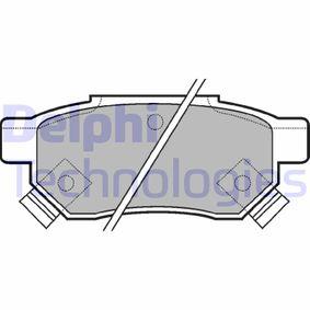 Комплект спирачно феродо, дискови спирачки LP625 25 Хечбек (RF) 2.0 iDT Г.П. 2004