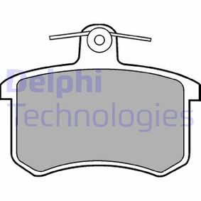 DELPHI Bremsbelagsatz, Scheibenbremse LP451 für AUDI 80 (8C, B4) 2.8 quattro ab Baujahr 09.1991, 174 PS