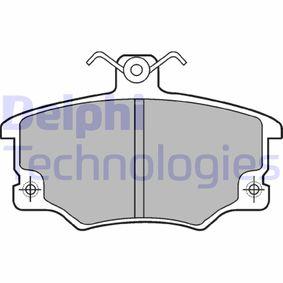 Brake Pad Set, disc brake LP459 PUNTO (188) 1.2 16V 80 MY 2000