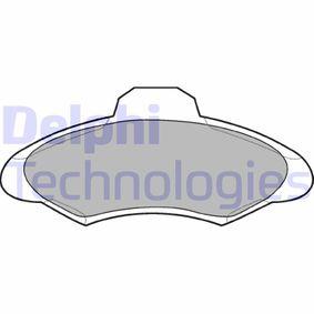 DELPHI Bremsbelagsatz, Scheibenbremse LP673 für FORD ESCORT VI Stufenheck (GAL) 1.4 ab Baujahr 08.1993, 75 PS