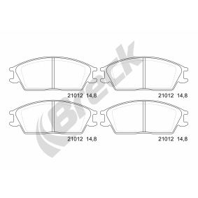 Bremsbelagsatz, Scheibenbremse Höhe: 49,10mm, Dicke/Stärke: 14,80mm mit OEM-Nummer 58101-24A00