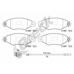 Renault Kangoo KC 1.6 16V bivalent Bremsbeläge BRECK 21980 00 702 10 (1.6 16V bivalent Benzin/Erdgas (CNG) 2007 K4M 850)