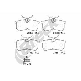Brake Pad Set, disc brake 23353 00 704 00 FIESTA 6 1.6 ST MY 2019
