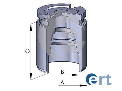 ERT  150220-C Kolben, Bremssattel Ø: 38mm, Höhe: 51mm, LUCAS/TRW