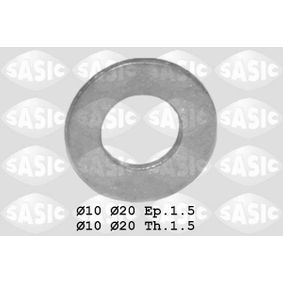 Seal, oil drain plug Ø: 20mm, Thickness: 1,5mm, Inner Diameter: 10mm with OEM Number 0313 33