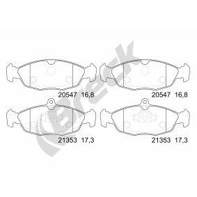 Комплект спирачно феродо, дискови спирачки 20547 00 702 00 Corsa B Хечбек (S93) 1.2 i (X 12 SZ, C 12 NZ) Г.П. 2000