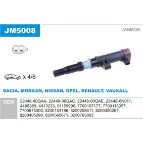 Bobina de encendido JM5008 MEGANE 1 Classic (LA0/1) 1.4 16V ac 2000