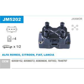 Ignition Coil JM5202 PUNTO (188) 1.2 16V 80 MY 2002