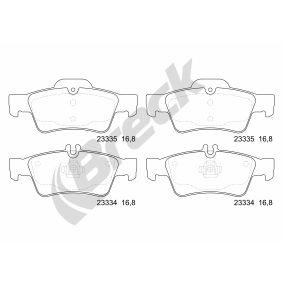 Bremsbelagsatz, Scheibenbremse Höhe: 57,30mm, Dicke/Stärke: 16,80mm mit OEM-Nummer 006 420 0120