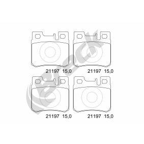 Bremsbelagsatz, Scheibenbremse Höhe: 58,5mm, Dicke/Stärke: 15mm mit OEM-Nummer 001 420 95 20