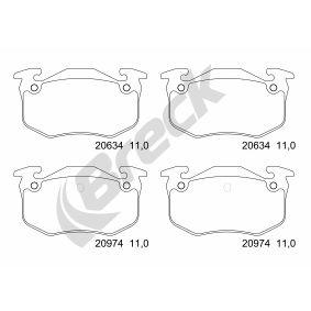 2002 Renault Clio Mk2 1.5 dCi Brake Pad Set, disc brake 20973 00 704 00