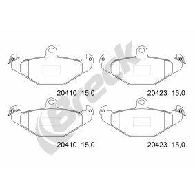 Bremsbelagsatz, Scheibenbremse Höhe: 58,7mm, Dicke/Stärke: 15mm mit OEM-Nummer 7701 203 124