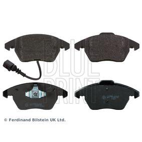 Bremsbelagsatz, Scheibenbremse Breite: 66,0, 71,4mm, Dicke/Stärke 1: 20,3mm mit OEM-Nummer 8J0-698-151-C