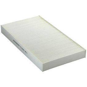Filter, Innenraumluft Länge: 290mm, Breite: 160mm, Höhe: 29mm mit OEM-Nummer 60653642