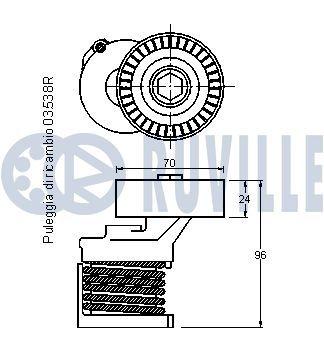 RUVILLE  5563 Radlagersatz Ø: 52,00mm, Innendurchmesser: 25,00mm