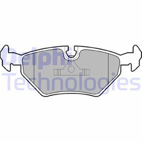 Bremsbelagsatz, Scheibenbremse Höhe 2: 45mm, Höhe: 45mm, Dicke/Stärke 1: 17mm, Dicke/Stärke 2: 17mm mit OEM-Nummer 34211160341