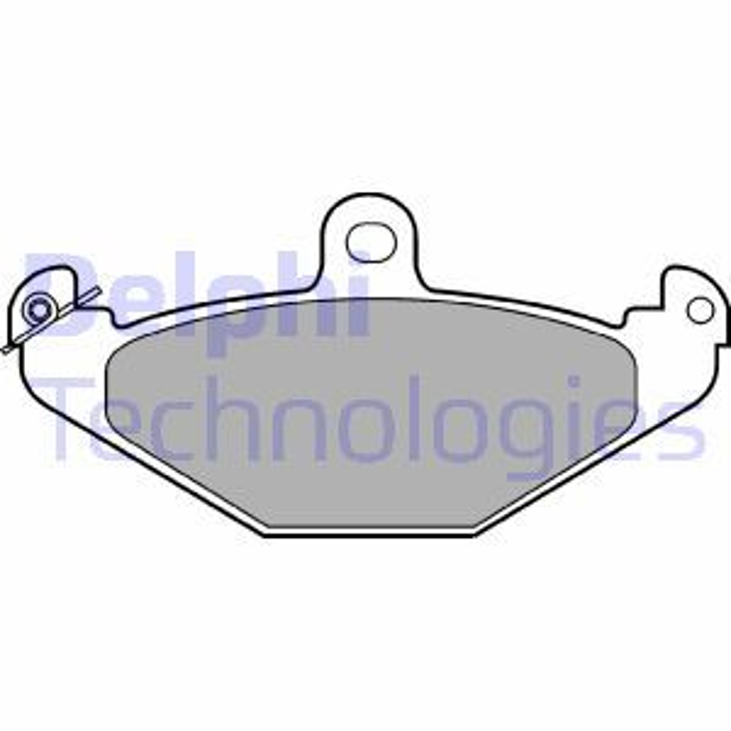 DELPHI  LP821 Bremsbelagsatz, Scheibenbremse Höhe 2: 58mm, Höhe: 58mm, Dicke/Stärke 1: 14mm, Dicke/Stärke 2: 14mm