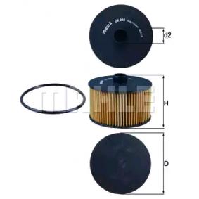 Ölfilter Ø: 91,5mm, Innendurchmesser 2: 20,6mm, Höhe: 63,0mm, Höhe 1: 52,0mm mit OEM-Nummer 86 60 003 780