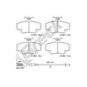 Bremsbelagsatz, Scheibenbremse Höhe: 64,80mm, Dicke/Stärke: 18,20mm mit OEM-Nummer 77012-04833