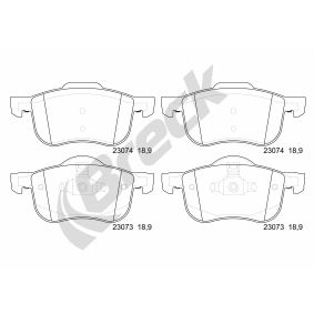 Brake Pad Set, disc brake Height: 69,10mm, Thickness: 18,90mm with OEM Number 31262506