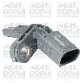 MEAT & DORIA Sensor, Raddrehzahl 90180 für AUDI Q7 (4L) 3.0 TDI ab Baujahr 11.2007, 240 PS