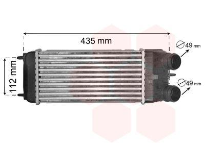 VAN WEZEL Ladeluftkühler Netzmaße: 300 - 158 - 80 09004252