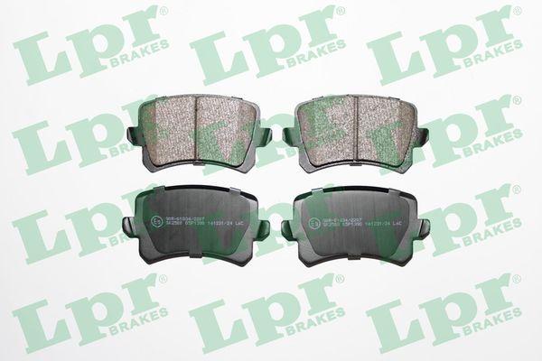 LPR  05P1390 Bremsbelagsatz, Scheibenbremse Breite: 105,5mm, Höhe: 56,3mm, Dicke/Stärke: 17,2mm