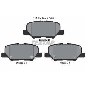 Kit pastiglie freno, Freno a disco 2568801 ASX (GA_W_) 2.4 4WD ac 2020