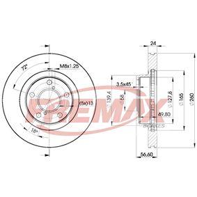 Bremsscheibe Bremsscheibendicke: 24mm, Ø: 260mm mit OEM-Nummer 26310AA021