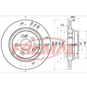 Brake Disc BD-0910 E-Class Saloon (W212) E 350 3.5 (212.059) MY 2011