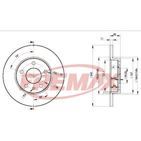 Bremsscheibe Bremsscheibendicke: 11mm, Ø: 240mm mit OEM-Nummer 71739571