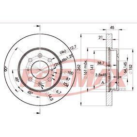 Спирачен диск дебелина на спирачния диск: 21мм, Ø: 262мм с ОЕМ-номер SDB000990