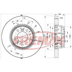 Bremsscheibe Bremsscheibendicke: 28mm, Ø: 316mm, Ø: 316mm mit OEM-Nummer 34 11 1 162 093